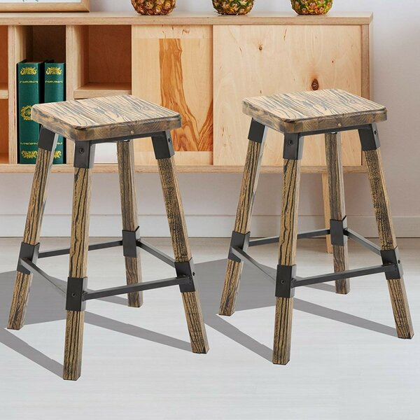 Topher 24 2 Piece Bar Stool Set by Millwood Pines