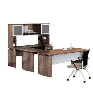 Medina 8-Piece U-Shape Desk Office Suite by Mayline Group Modern