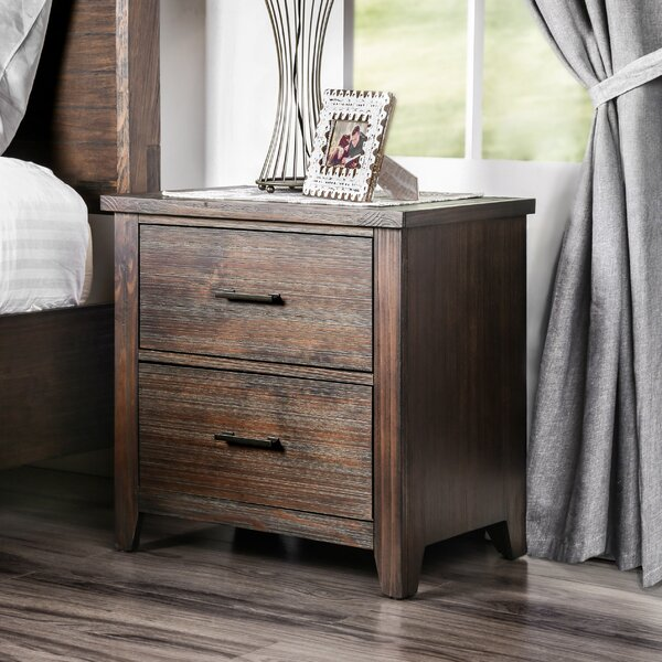 Trenton 2 Drawer Nightstand by Loon Peak Loon Peak