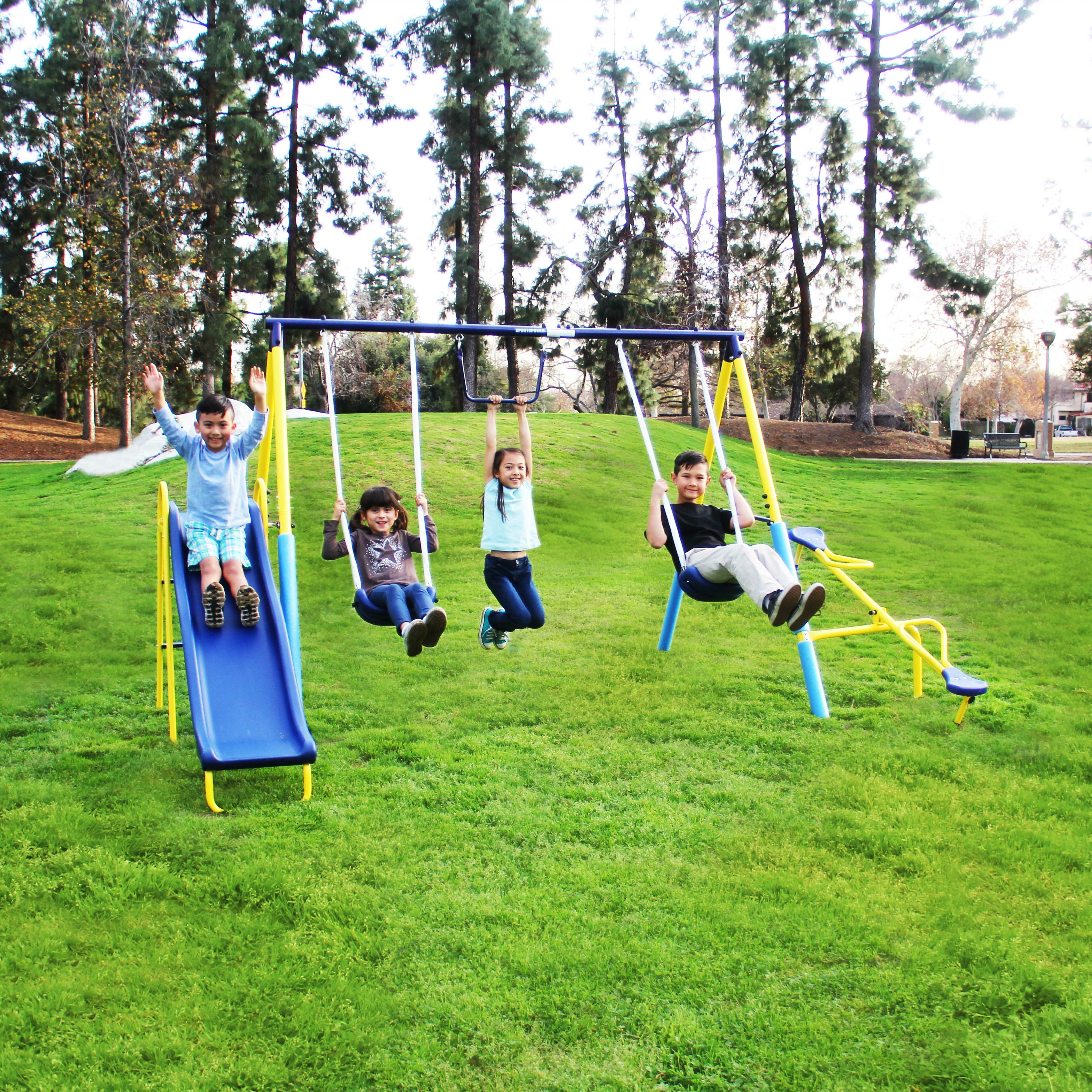 bag swingset to wood punching outdoorplay kids attached swing pin backyard playset sets