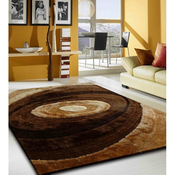 Orme Shaggy Hand-Tufted Brown Area Rug by Orren Ellis