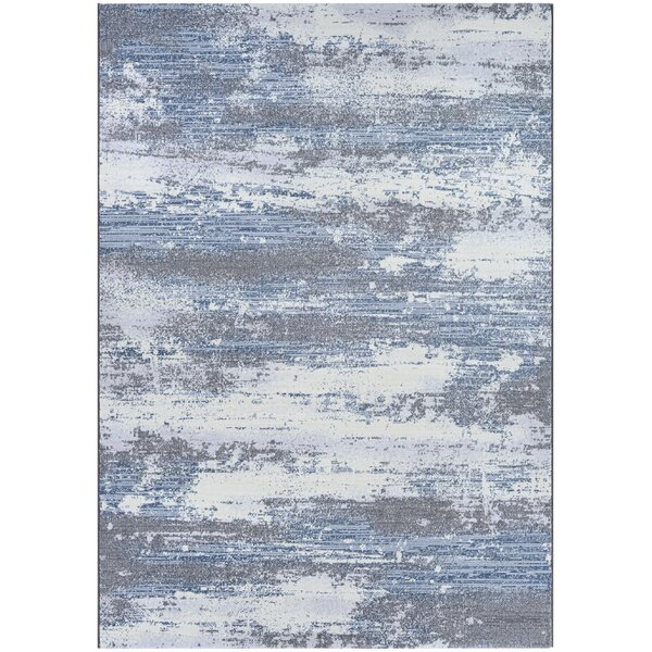 Driggers Gray/Blue Area Rug by Williston Forge