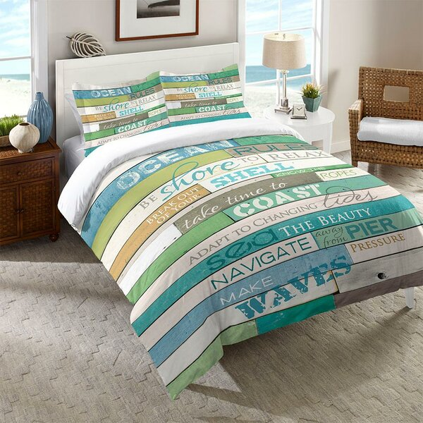 Dayne Ocean Rules Comforter by Highland Dunes