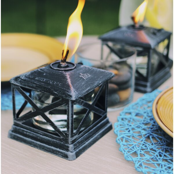 Petite Lantern Metal Tabletop Torch by TIKI Brand