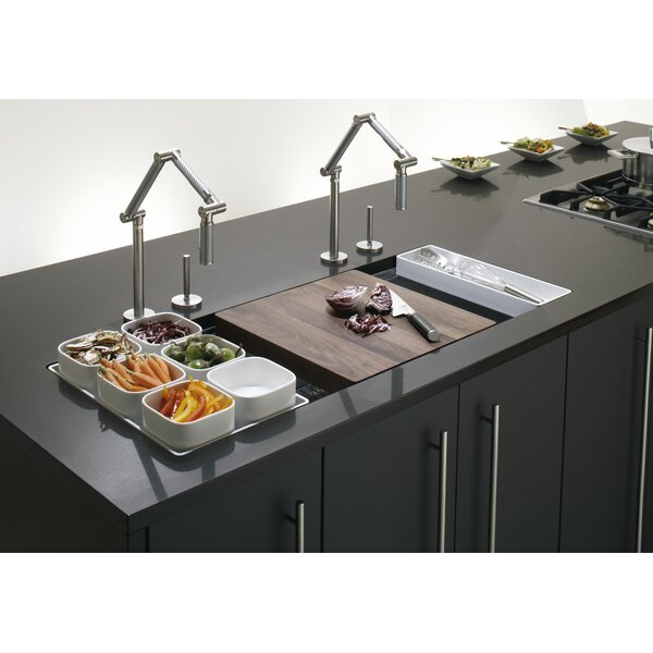 Stages 45 L x 18-1/2 W x 9-13/16 Undermount Single-Bowl with Wet Surface Area Kitchen Sink