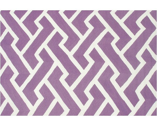 Horton Hand-Hooked Purple Indoor/Outdoor Area Rug by Threadbind
