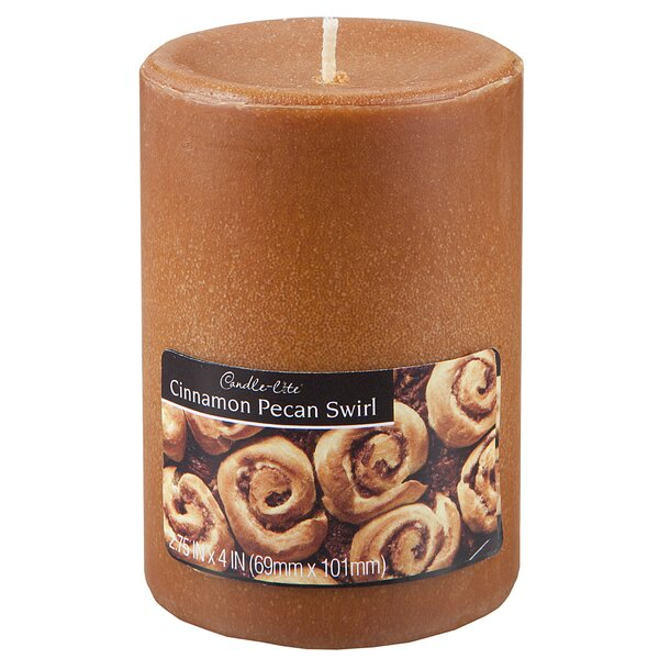 Candle-Lite Cinnamon Pecan Pillar Candle (Set of 2) by Fortune Products