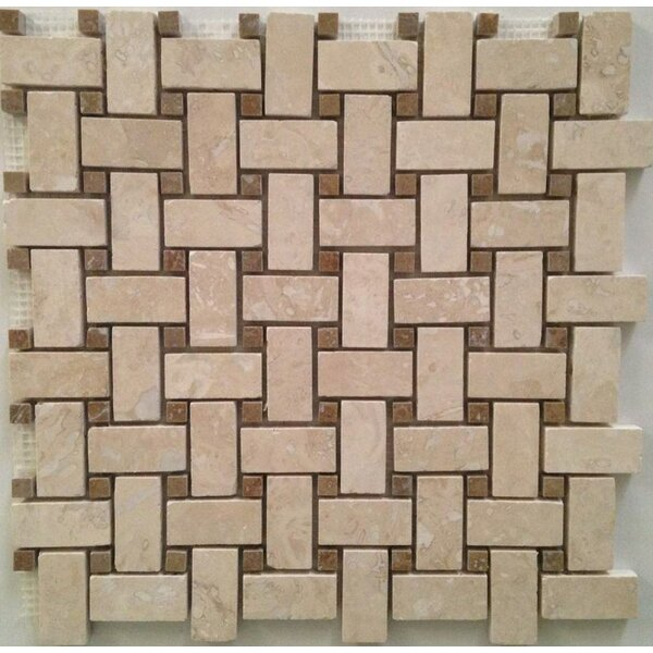 Mosaic Tile in Ivory by Ephesus Stones