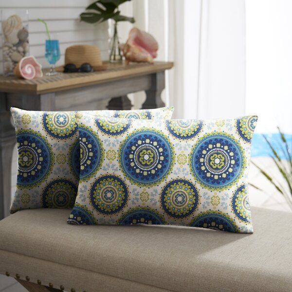 Merle Indoor/Outdoor Lumbar Pillow (Set of 2) by Bloomsbury Market