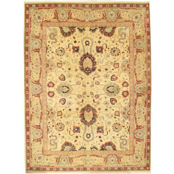 Sultanabad Hand-Knotted Wool Ivory Area Rug by Pasargad NY