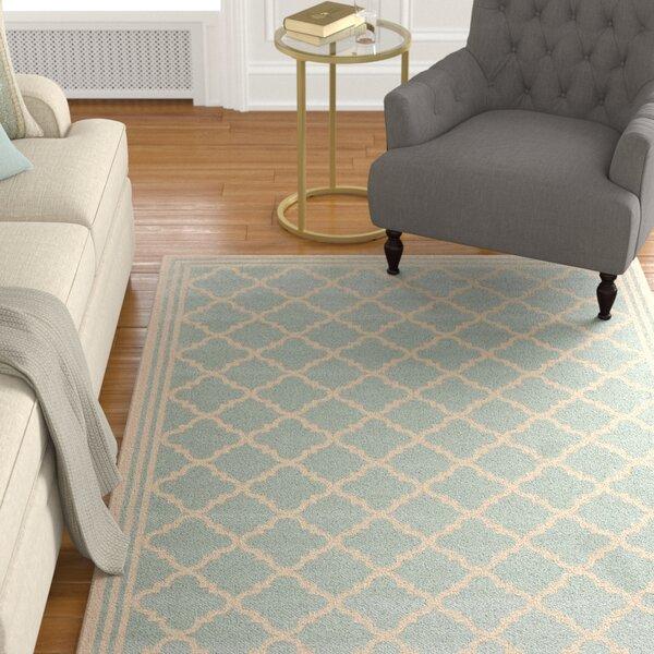Berardi Aqua/Cream Area Rug by Darby Home Co