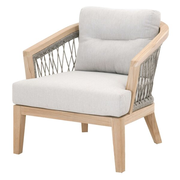 Minarets Patio Chair with Cushion by Bungalow Rose