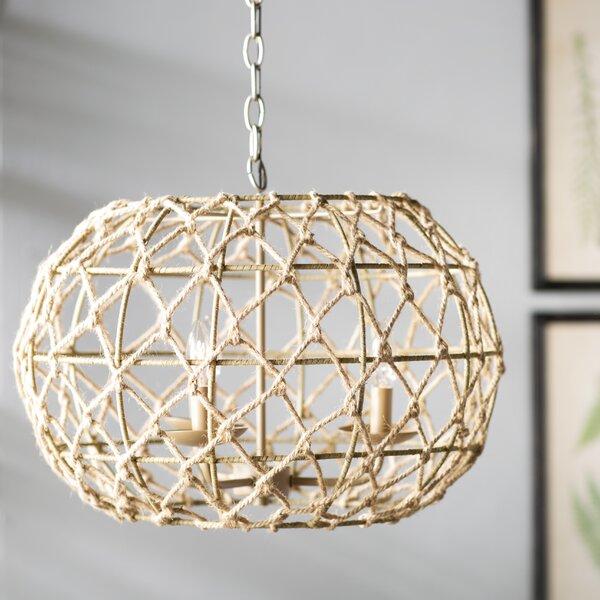 Joni 3-Light Globe Chandelier by Beachcrest Home