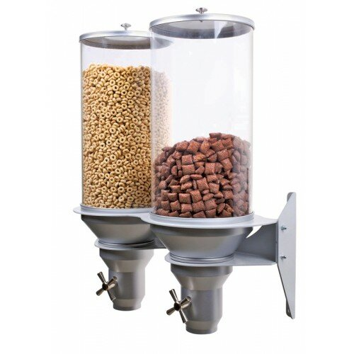 456.49 Oz.Double Canister Cylinder Cereal Wall Mounted Dispenser by Cal-Mil