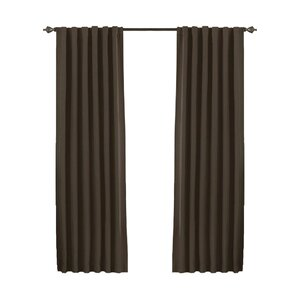 McCordsville Solid Blackout Thermal Rod Pocket Single Curtain Panel