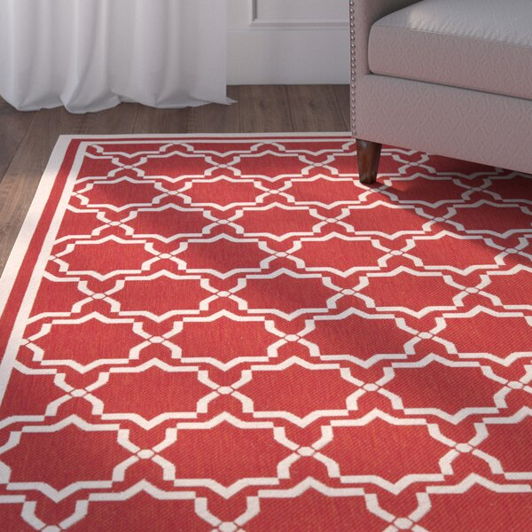Herefordshire Red Indoor/Outdoor Area Rug by Winston Porter
