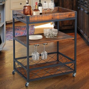 Caster Rustic Industrial Bar Cart by Gracie Oaks