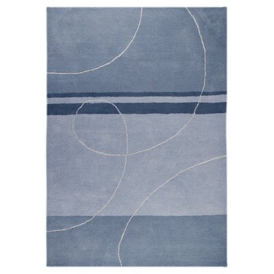 Orren Ellisorren Ellis Cobbins Abstract Blue Cream Area Rug Psom5555 Rug Size Rectangle 5 2 X 7 2 Dailymail