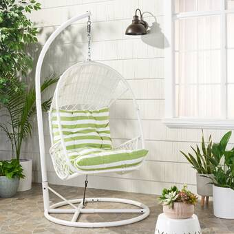 Egg Chair Rotan.Brayden Studio Abrams Hanging Egg Chair Hammock With Stand