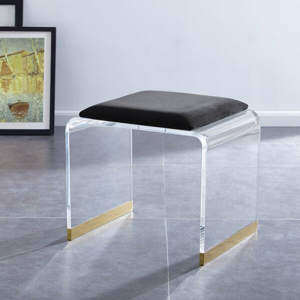 Syrna Vanity Stool by Everly Quinn