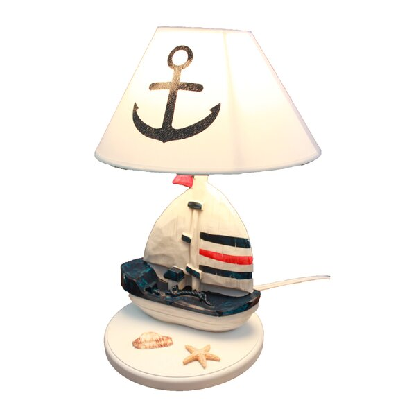 Brundage Wooden Sailboat 14 Table Lamp by Longshore Tides