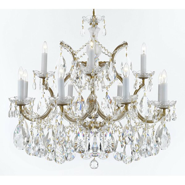 Bellefonte Glam 13-Light Candle Style Chandelier by Astoria Grand