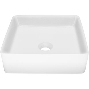 Look for Nautilus Series Vitreous China Square Vessel Bathroom Sink ByTicor Sinks