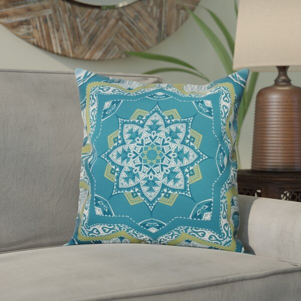 Meetinghouse Shawl Geometric Outdoor Throw Pillow by Bungalow Rose