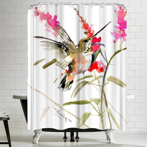 Suren Nersisyan Hummingbird Flyiong 2 Shower Curtain by East Urban Home