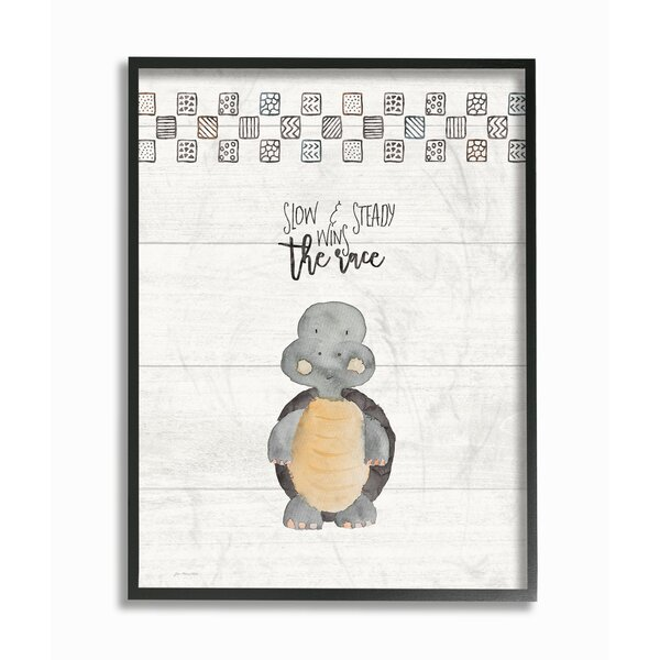 Farren Slow and Steady Wins Turtle Framed Art by Harriet Bee