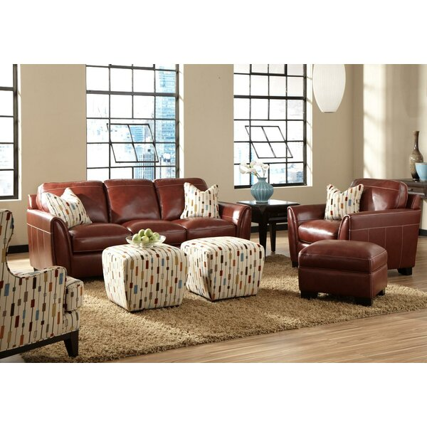 Hahira Leather Configurable Living Room Set by Latitude Run