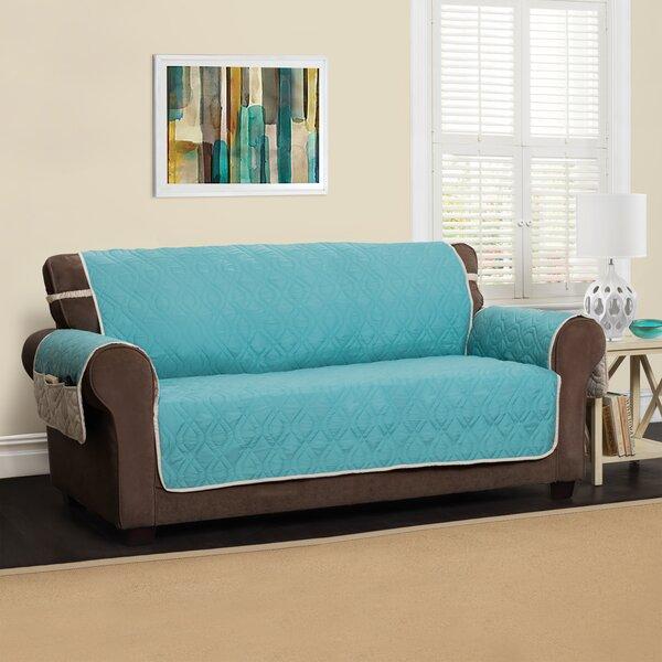 Box Cushion Sofa Slipcover By Winston Porter