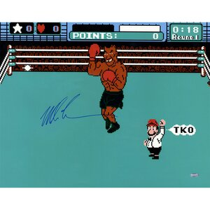 Mike Tyson Signed Punch Out Photo Graphic Art by Steiner Sports