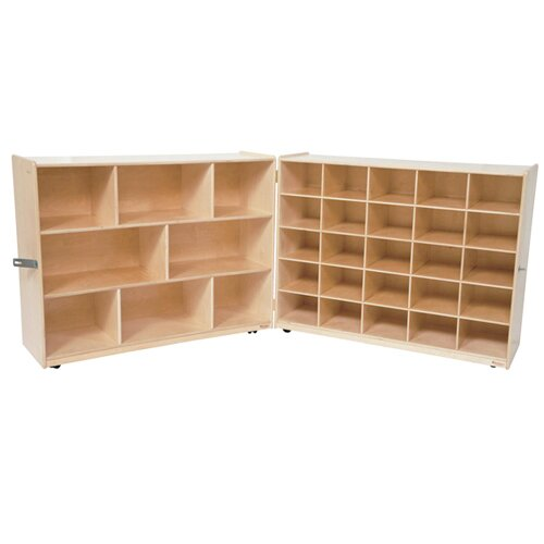 Shelf Folding Storage 25 Compartment Cubby by Wood Designs