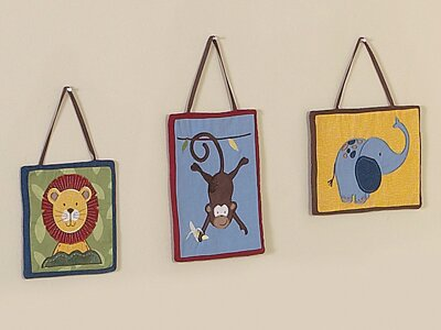 3 Piece Jungle Time Wall Hanging Set by Sweet Jojo Designs