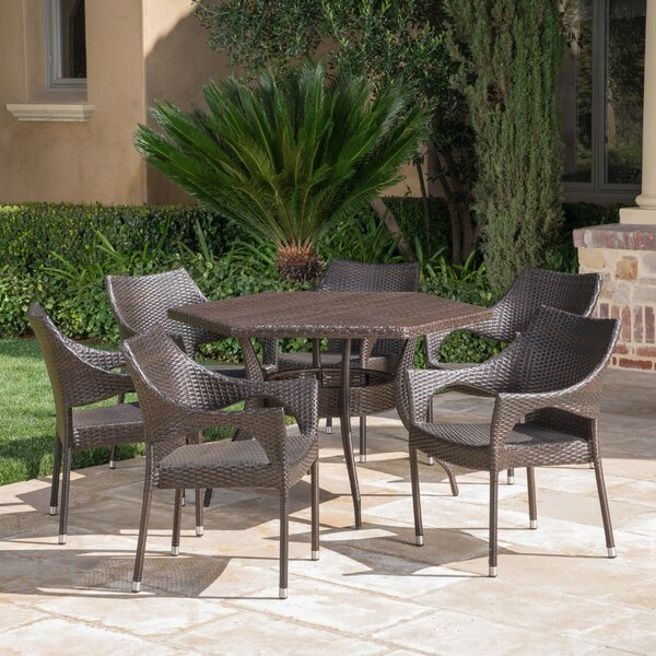 Outdoor 7 Piece Dining Set by Wrought Studio