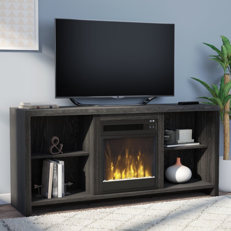 Mercury Row Cadle Tv Stand With Fireplace Reviews Wayfair