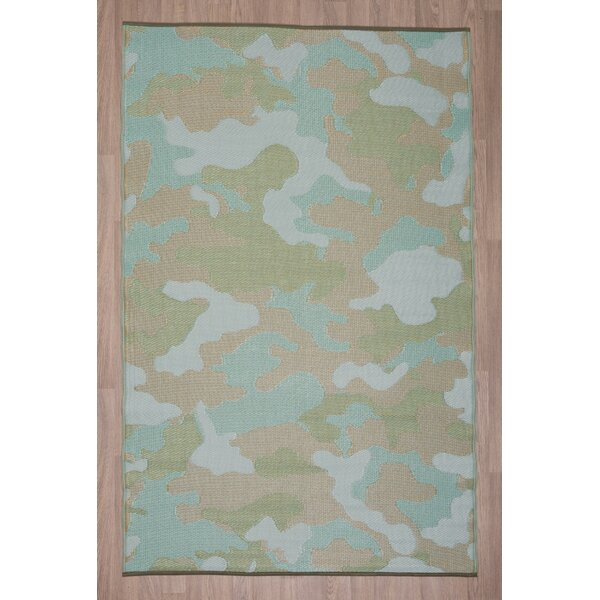 Frandsen Camo Blue/Green Indoor/Outdoor Area Rug by Winston Porter