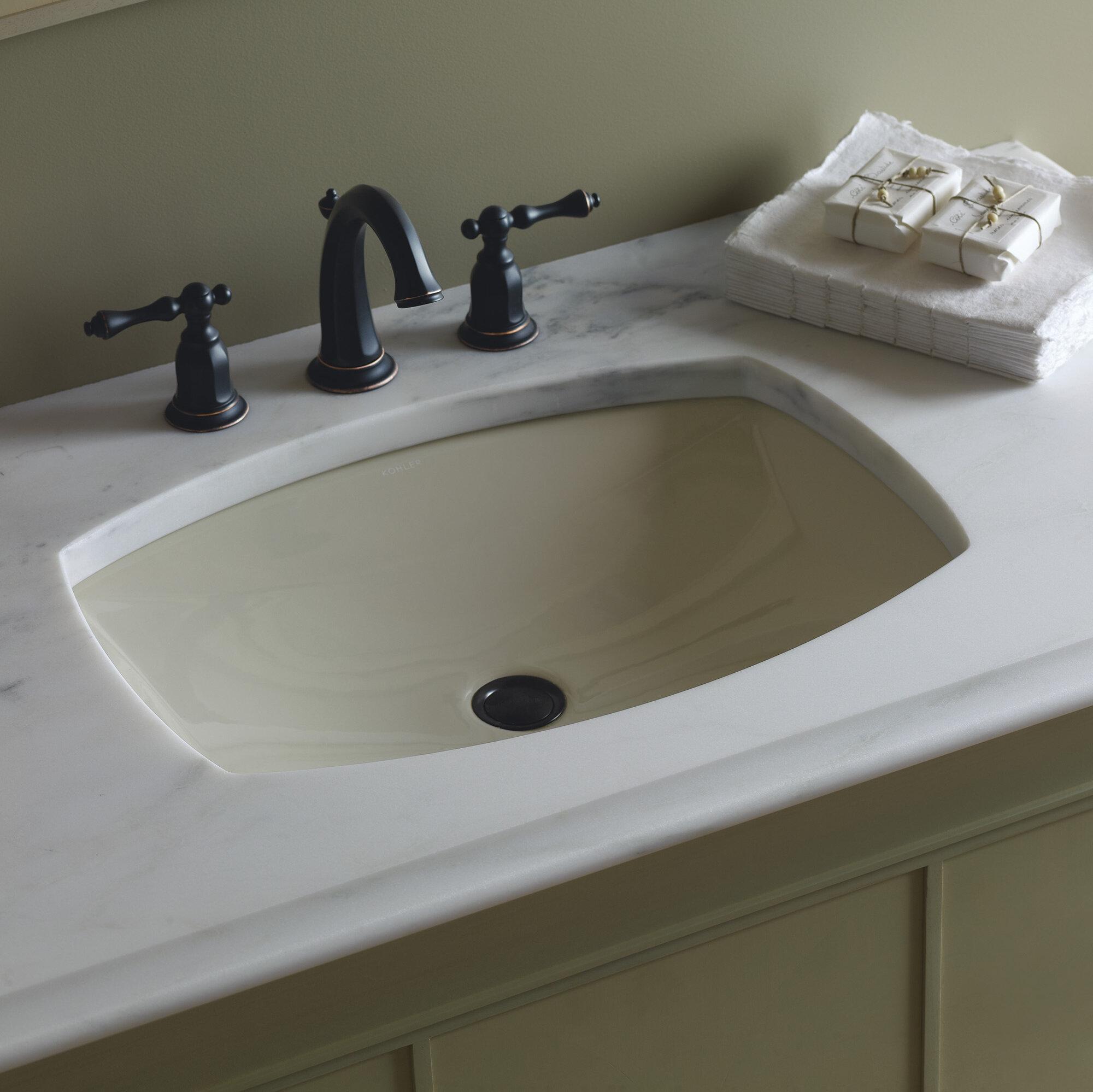K 2382 09596 kohler kelston ceramic rectangular undermount bathroom sink with overflow reviews wayfair