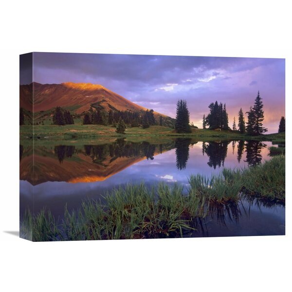 Nature Photographs Mount Baldy at Sunset Reflected in Lake along Paradise Divide Colorado by Tim Fitzharris Photographic Print on Wrapped Canvas by Global Gallery