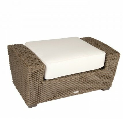 Augusta Outdoor Ottoman with Cushion by Woodard