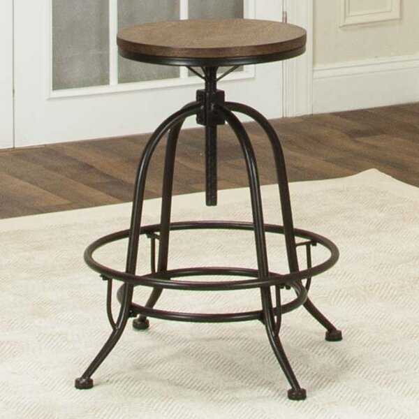 Abbeville Adjustable Height Swivel Bar Stool by Gracie Oaks