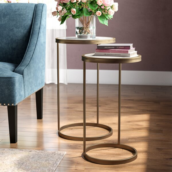 Claybrooks Nesting Tables (Set of 2) by House of Hampton