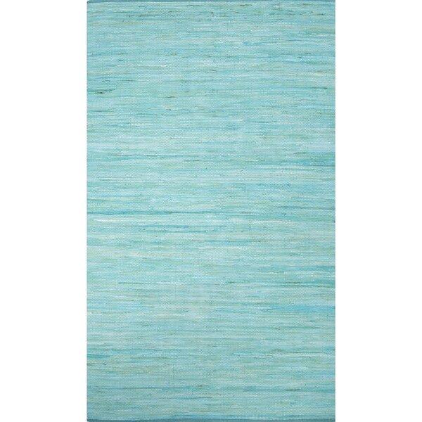 Keiu Modern Hand-Woven Blue Area Rug by Highland Dunes