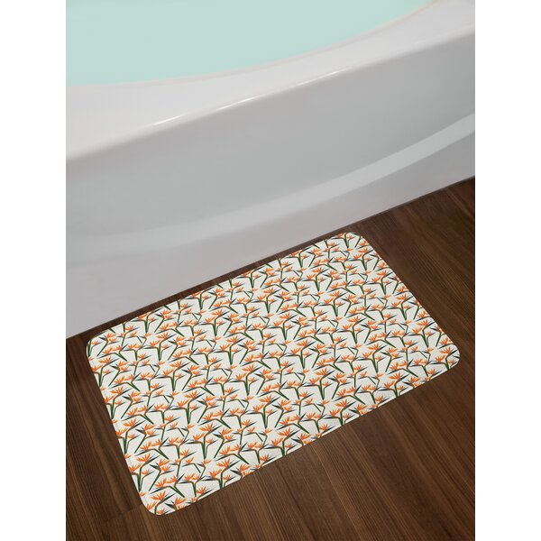 Contemporary Spring Bath Rug by East Urban Home