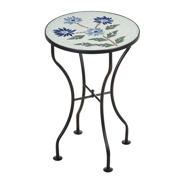 Vannoy Glass Mosaic Outdoor Bistro Table by Canora Grey