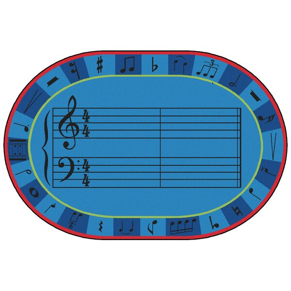 Value Plus A-Sharp Music Area Rug by Carpets for Kids