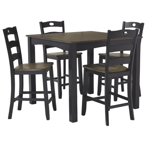 Penzance 5 Piece Pub Table Set by Three Posts