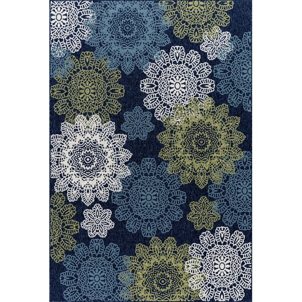 Keeble Beautiful Navy Indoor/Outdoor Area Rug by Winston Porter