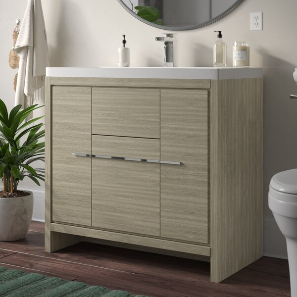 Garett Modern 36 Single Bathroom Vanity Set by Wade Logan